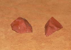Roter Jaspis Feuerstein der Templer Tempelritter Kreuzritter